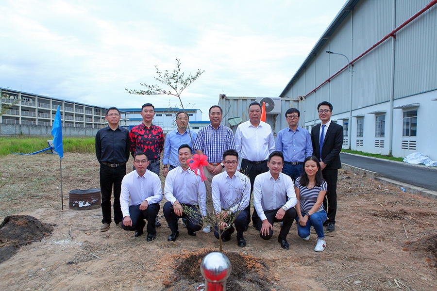 越南工厂二期工程举行开工仪式